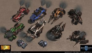 Starcraft II: Terran Colonist Vehicles 2013 by cg-sammu