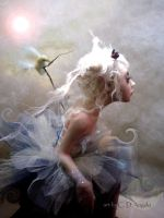 ballerina with doves B by cdlitestudio