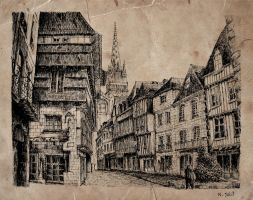Quimper Oldpaper by nicolasjolly