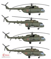 Mil helicopters by T0RYU