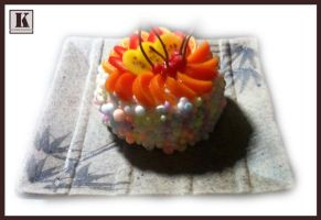 Bubble Fruit Cake by kuroso