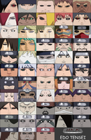 Kabuto's Edo Tensei cubeecraft set by hollowkingking