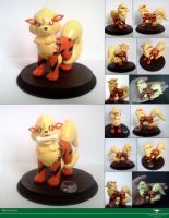 Arcanine sculptures by Vitor-Silva