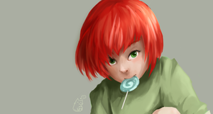 [Unfinished] Red head by Tapiocat