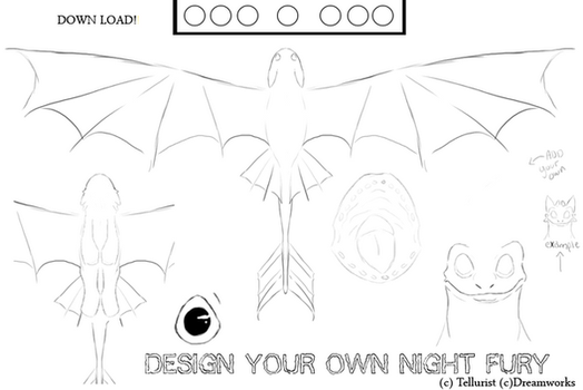 Night fury Template OLD  go use new ones by Tellurist