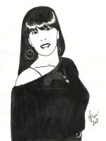 2012-Portrait of a Woman (ink on paper) by Maxmilian1983