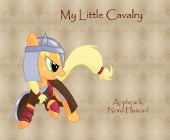 My Little Cavalry- Applejack by Nimbostratus