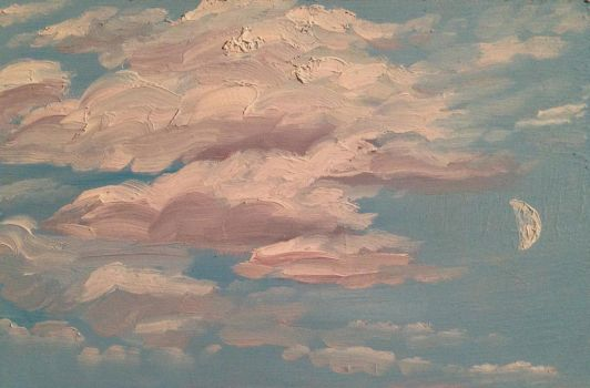 Clouds and Moon Study by Goalie89
