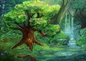 Magical forest by Meradlin