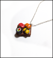 Sushi table necklace by CookingMaru