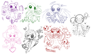 TBoI - Doodles by GhostBulb