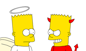 Bart Simpson - Good and Bad side by SuperMarcosLucky96