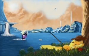 Gone fishin by Auroriia