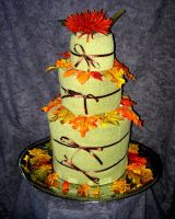 Autumn Wedding Cake by UrsulaPatch