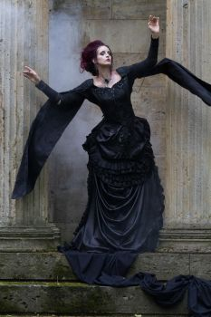 Stock - Gothic Dark woman hand pose dark wind 3 by S-T-A-R-gazer