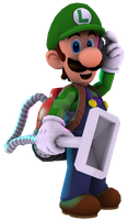 Luigi 3D Render by RatchetMario