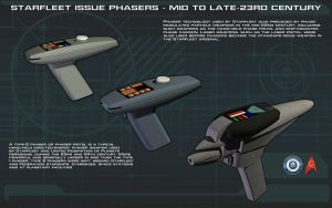 Phasers [Mid To Late23rd Century] Tech Readout by unusualsuspex