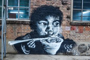 Noodles - 798 Street Art Beijing China by Studio5Graphics