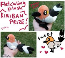 Fletchling Plush by SilkenCat