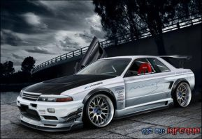 nissan skyline r32 mines again by inferno-87