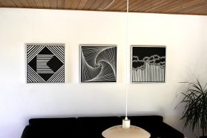 Three Abstract Geometric Paintings by TheMozzy