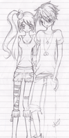 Couple Sketch 01 by anniecheng09
