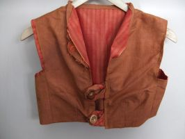 Burnt Orange Waistcoat (3rd view) by sewn-by-honeybirds