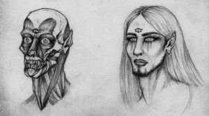 Face study of Sauron by LaZombinella