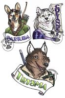 Three Badges by lady-cybercat