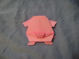 Origami Chansey by FroggyDreams