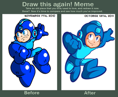 Mega Man Before and After by JamesmanTheRegenold