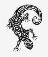 Tribal sobe lizzard sort of by pucksgryn