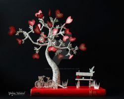 The Tree of Love - Book Arts by MalenaValcarcel