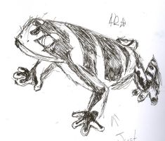 left handed frog drawing by McMuffinNinjaFluffer