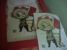 Canada - Hetalia - Embroidery by MimiruSabishii