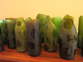 Leaf Vases by trilobiteglassworks