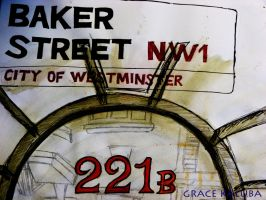 221B BAKER STREET (London Sketches) by loveangelmusic