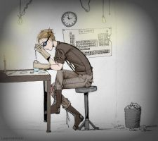 :The Scientist: by papershibuya