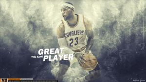 LeBron James GREAT PLAYER THE KING by namo,7 by 445578gfx