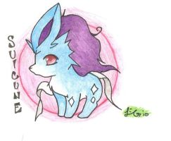 Chibi Suicune by Leafy--Greens