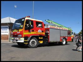 Isuzu Firetruck on parade by RedtailFox
