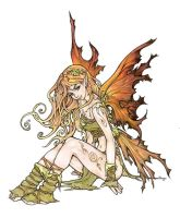 Autumn fairy, colour by Pallat