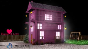 House of Love night .C4D by msk11