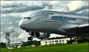 Airbus A380 take off edit / FAS 2012 by Somebody-Somewhere