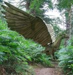 Stock - Giant Eagle Statue by OghamMoon