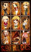 Chibi Set - Silent Hill by ToxicStarStudio