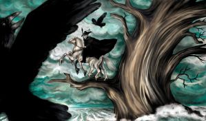 Odin on Sleipnir by iscalox