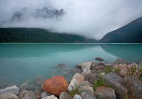 Clouds over Lake Louise by EvaMcDermott
