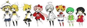 Vocaloid kids by Kjbionicle