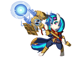 Vinyl Scratch Jayce by FrenchyToastyy